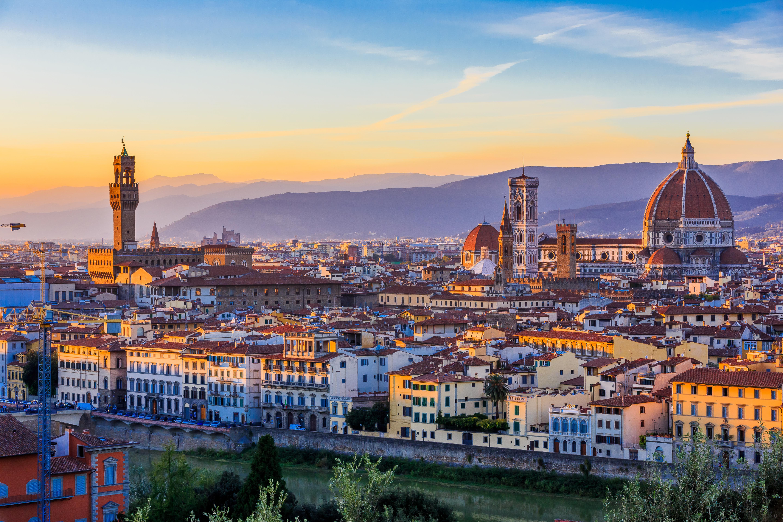 Вид на Флоренцию, итальянский город, где россияне могут получить двойное гражданство